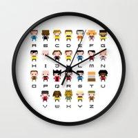 Pixel Star Trek Alphabet Wall Clock