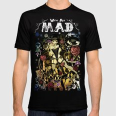 MAD ALICE: HATTER Mens Fitted Tee Black SMALL