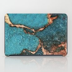 AQUA & GOLD GEMSTONE iPad Case