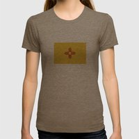 new mexico flag Womens Fitted Tee Tri-Coffee SMALL