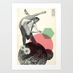 Swing Around The World Art Print