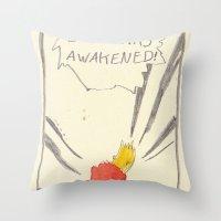 Bartkira has awakened  Throw Pillow