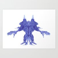Rorschach Monster Art Print