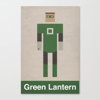 Retro Green Lantern Canvas Print