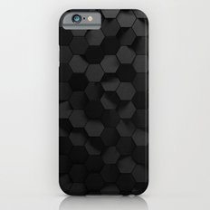 Black abstract hexagon pattern iPhone 6 Slim Case