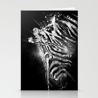 Zebra Mood - White Stationery Cards