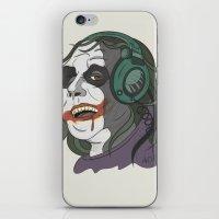 Joker illustration iPhone & iPod Skin