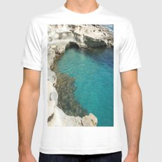 Shore Mens Fitted Tee SMALL White