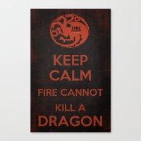 Keep Calm - Game Poster 03 Canvas Print
