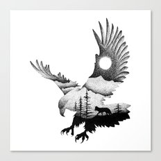 THE EAGLE AND THE FOX Canvas Print