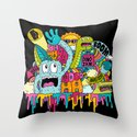 Dino Jam Throw Pillow