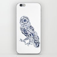 Folk Floral Indigo Owl iPhone & iPod Skin
