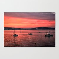 Mumbles Harbour After Su… Canvas Print