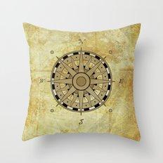 Compass Rose Throw Pillow