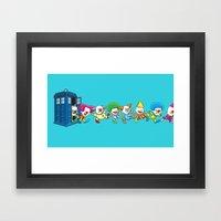 Clown Tardis Framed Art Print
