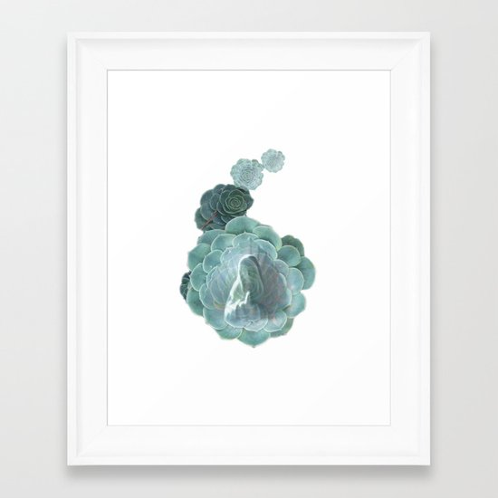 "La Virgen de Guadalupe series: ""Succulents"" Framed Art Print"
