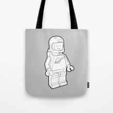 Vintage Lego Spaceman Wireframe Minifig Tote Bag