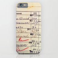 Library Card 23322 iPhone 6 Slim Case