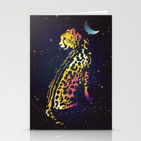 Space Leopard Stationery Cards