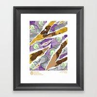 Uranians vs Dinozilla Framed Art Print