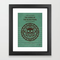 No494-1 My Pirates of the Caribbean I minimal movie poster Framed Art Print