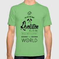 Lennon's Revolution Mens Fitted Tee Grass SMALL