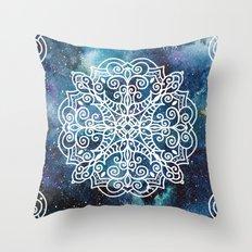 Mandala And Nebula Throw Pillow