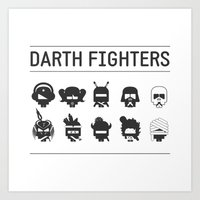 Darth Fighters Art Print