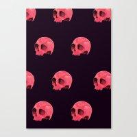 Pink Skull Pattern Canvas Print