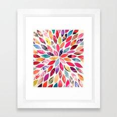Color Flower Burst Framed Art Print