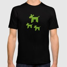 Dogs-Green Mens Fitted Tee Black SMALL