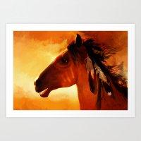HORSE - Apache Art Print