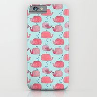 iPhone & iPod Case featuring thousands of little pink wales by serenita