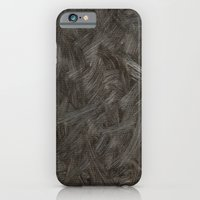 Black And White Brushstrokes Abstract Pattern Modern iPhone 6 Slim Case
