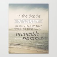 Invincible Summer Canvas Print