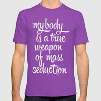 MASS SEDUCTION Mens Fitted Tee Ultraviolet SMALL