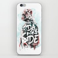 Respect the Dark Side Vader iPhone & iPod Skin