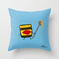 Vegemite Honey Throw Pillow