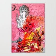 Ganesh vs Kali Canvas Print