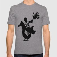 Riding Rooster  Mens Fitted Tee Athletic Grey SMALL