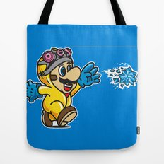 Blue Crystal Star Tote Bag