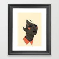 Face Off 1 Framed Art Print