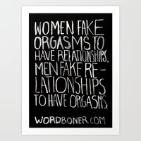 Orgasms Art Print