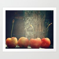 Cherry ball Art Print