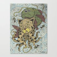Mr Octopus & The One That Got Away Canvas Print