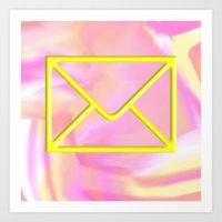 mail time Art Print