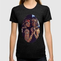 Psychoactive Bear 2 Womens Fitted Tee Tri-Black SMALL