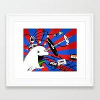 Admiral Analog Framed Art Print