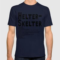 Helter Skelter (black On… Mens Fitted Tee Navy SMALL