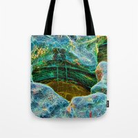 Abstract rocks with barnacles and rock pool Tote Bag